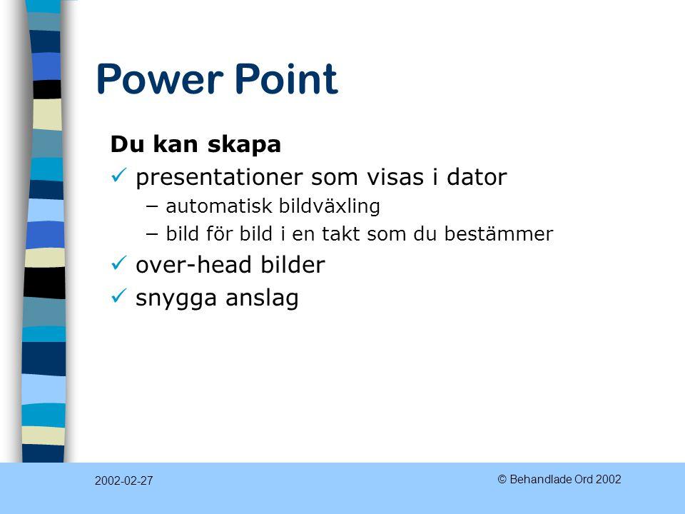 presentationer som visas i dator
