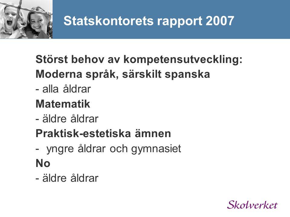 Statskontorets rapport 2007