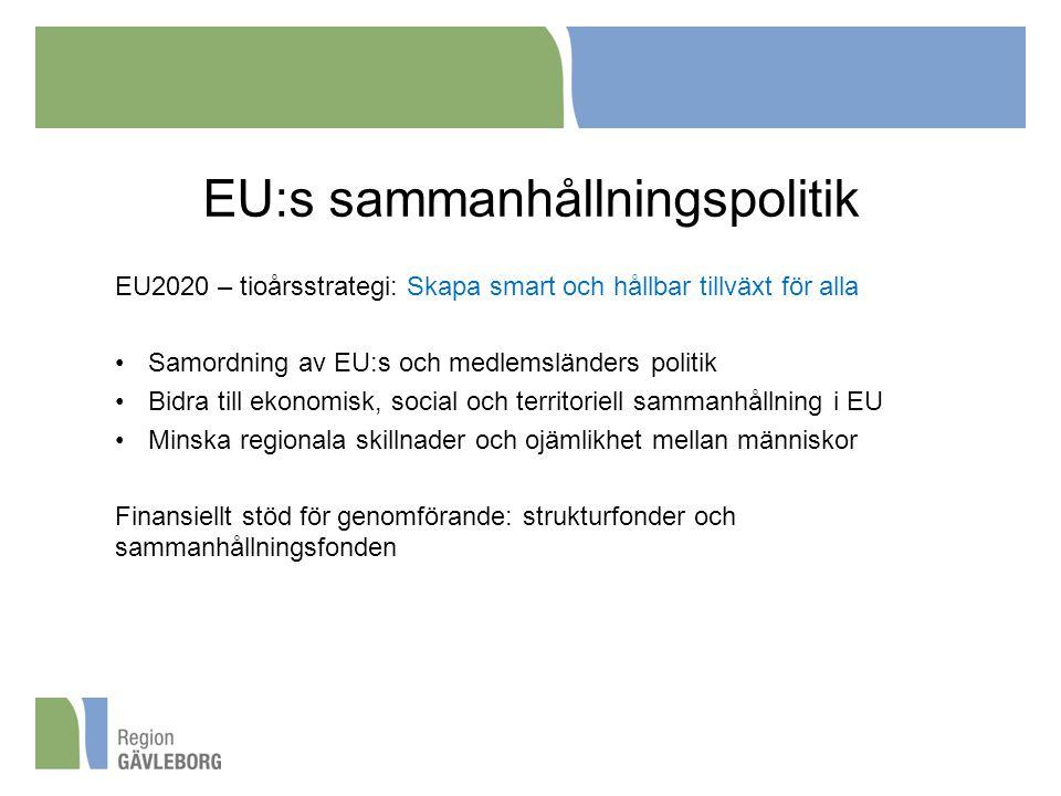 EU:s sammanhållningspolitik
