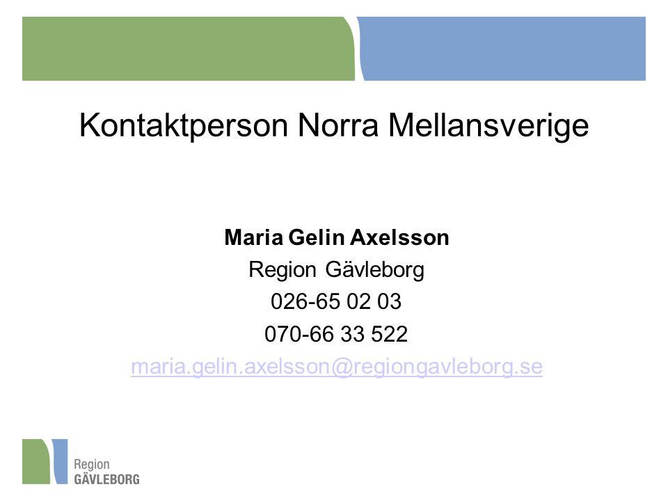 Kontaktperson Norra Mellansverige