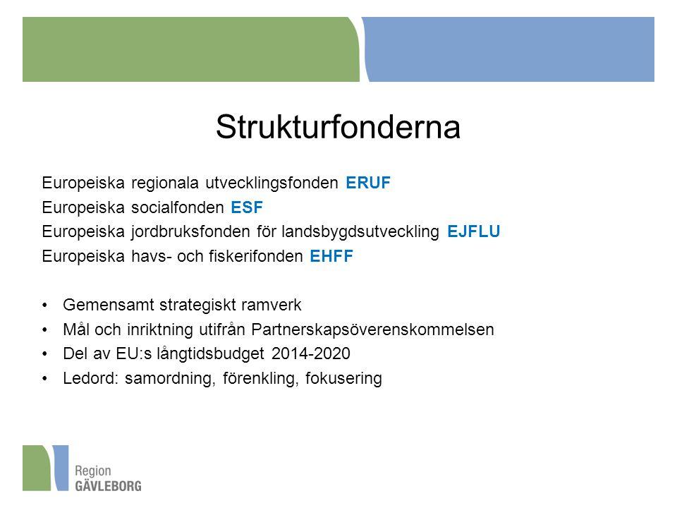 Strukturfonderna Europeiska regionala utvecklingsfonden ERUF