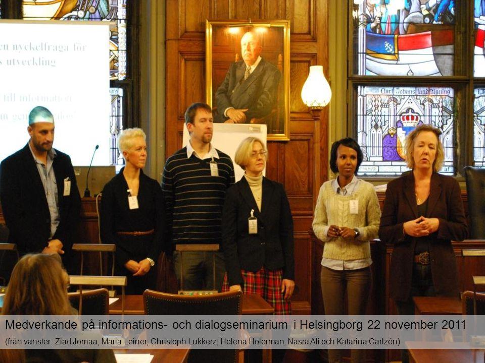 Medverkande på informations- och dialogseminarium i Helsingborg 22 november 2011