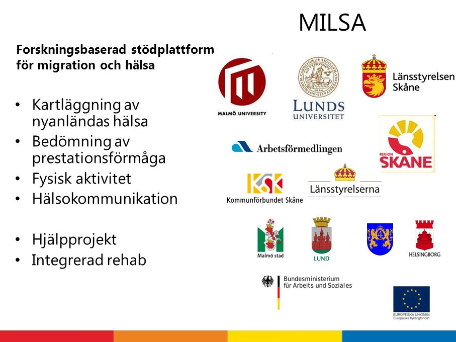 MILSA Kartläggning av nyanländas hälsa Bedömning av prestationsförmåga