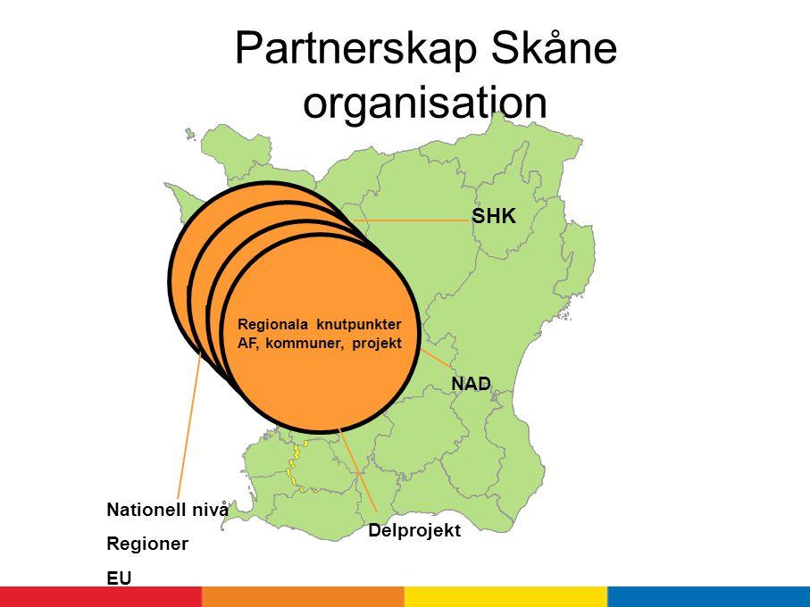 Partnerskap Skåne organisation