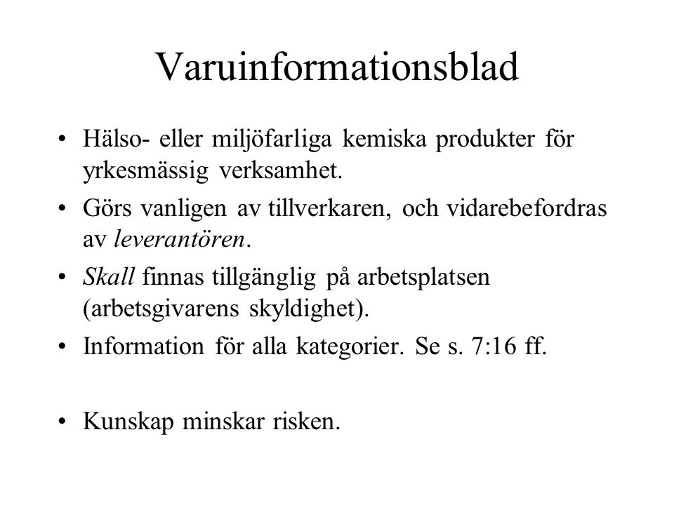 Varuinformationsblad