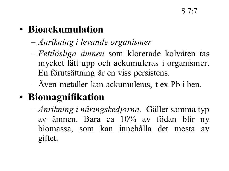 Bioackumulation Biomagnifikation Anrikning i levande organismer