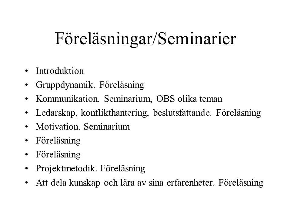 Föreläsningar/Seminarier