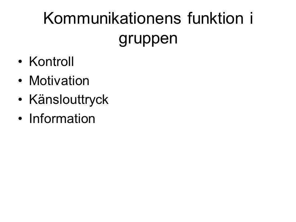 Kommunikationens funktion i gruppen