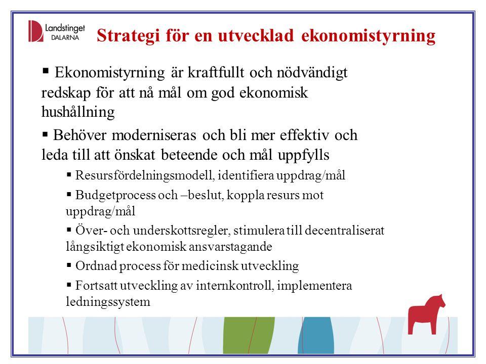 Strategi för en utvecklad ekonomistyrning
