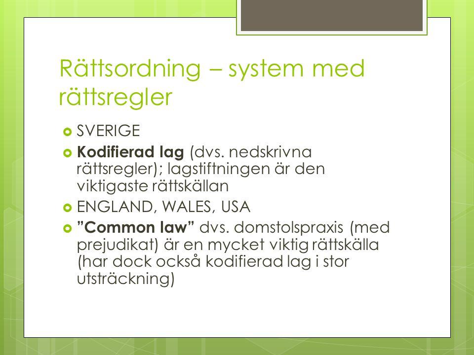 Rättsordning – system med rättsregler
