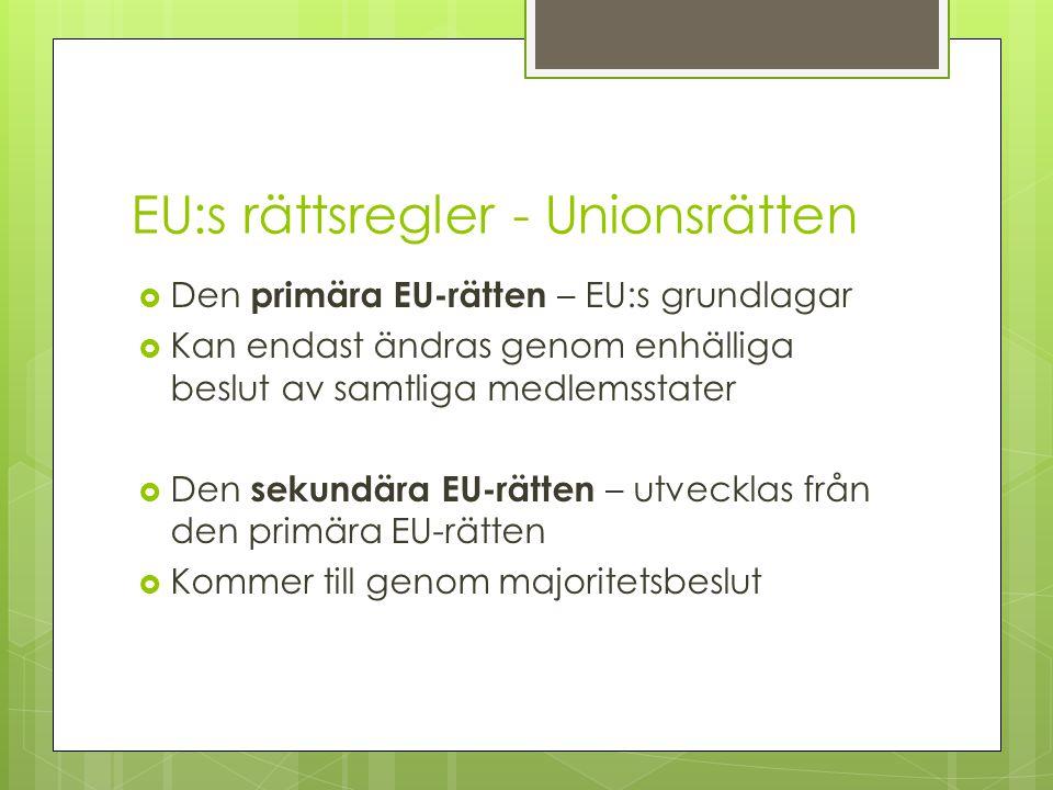 EU:s rättsregler - Unionsrätten