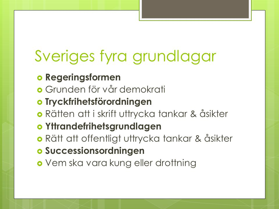 Sveriges fyra grundlagar