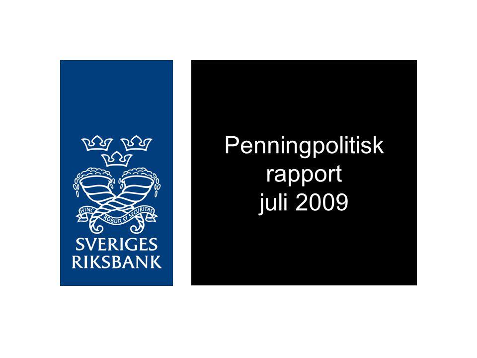 Penningpolitisk rapport juli 2009