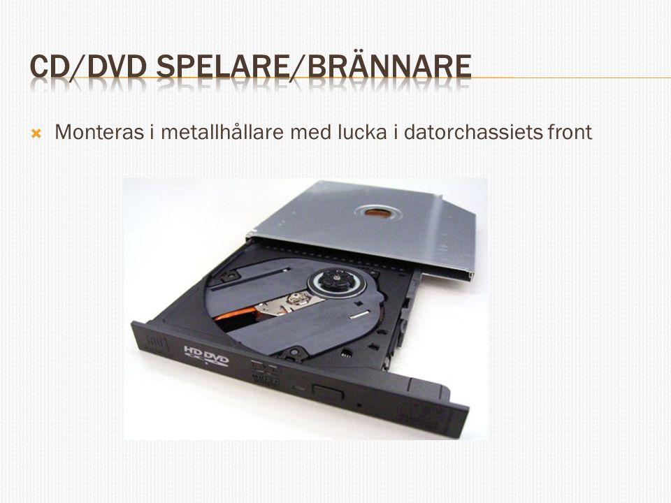 CD/DVD Spelare/Brännare