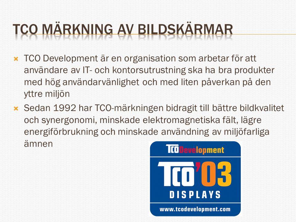 TCO märkning av bildskärmar