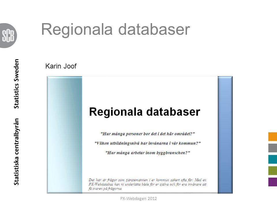 Regionala databaser Karin Joof