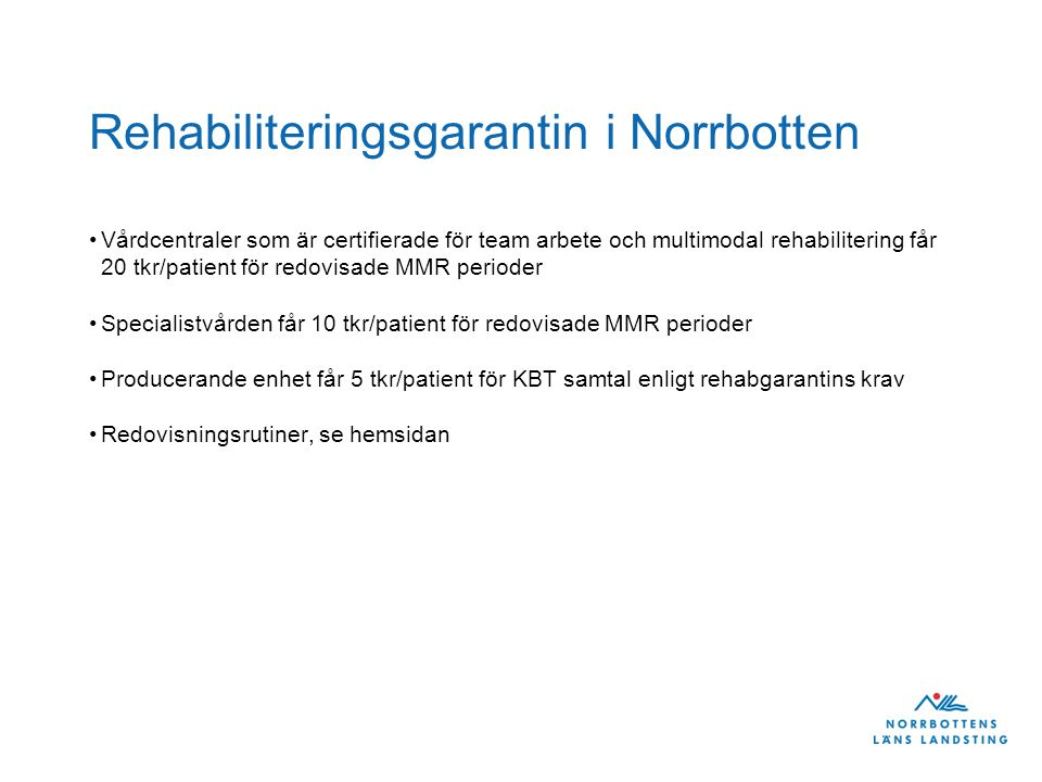 Rehabiliteringsgarantin i Norrbotten