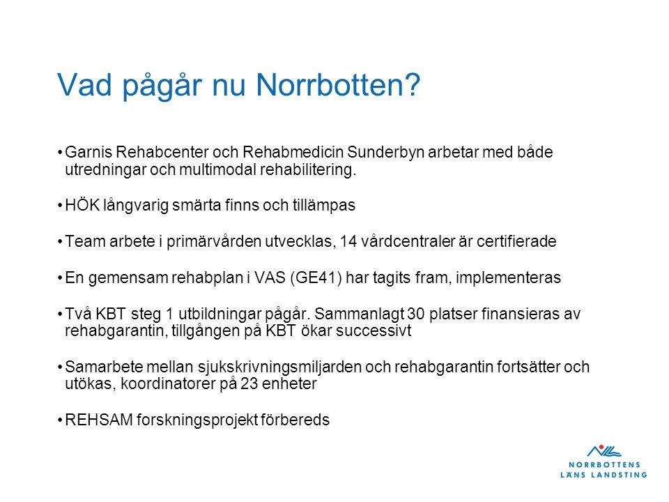 Vad pågår nu Norrbotten