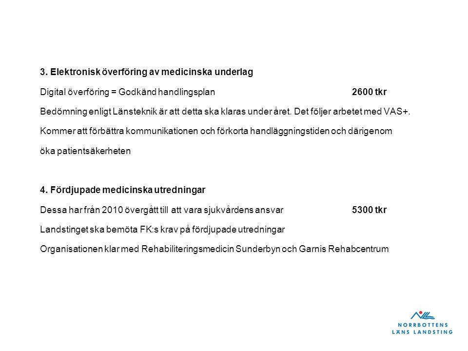 3. Elektronisk överföring av medicinska underlag