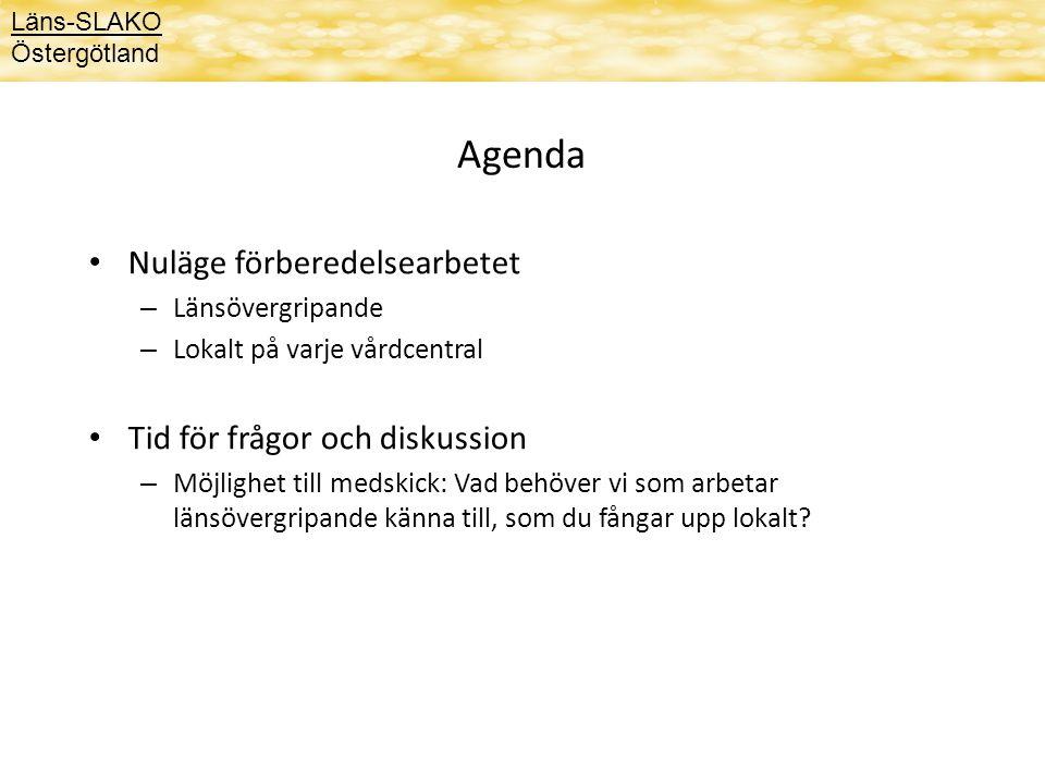 Agenda Nuläge förberedelsearbetet Tid för frågor och diskussion