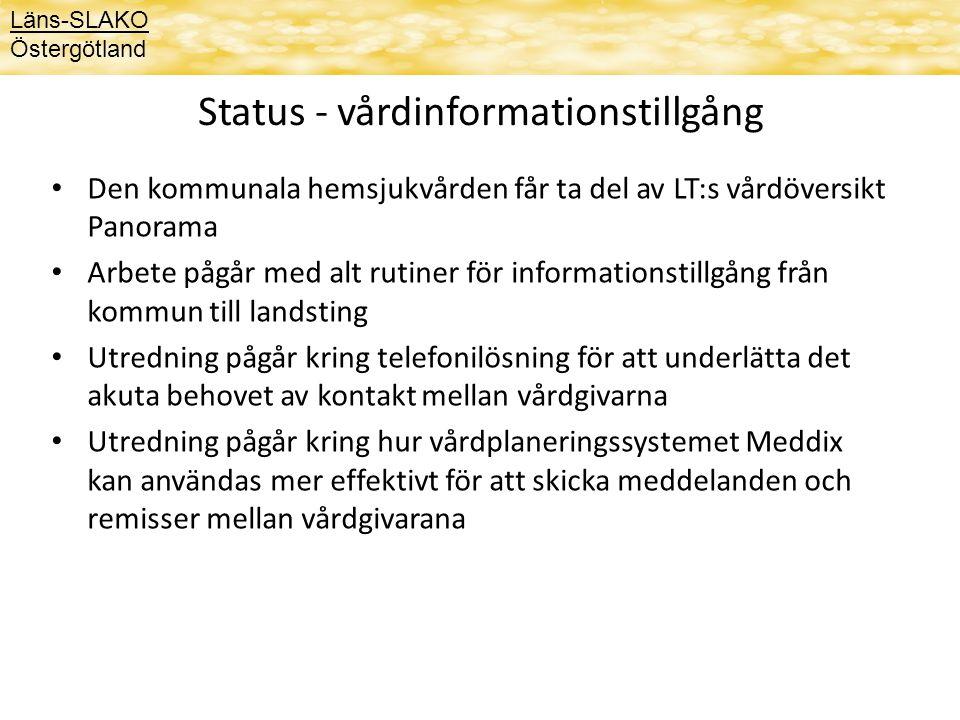 Status - vårdinformationstillgång