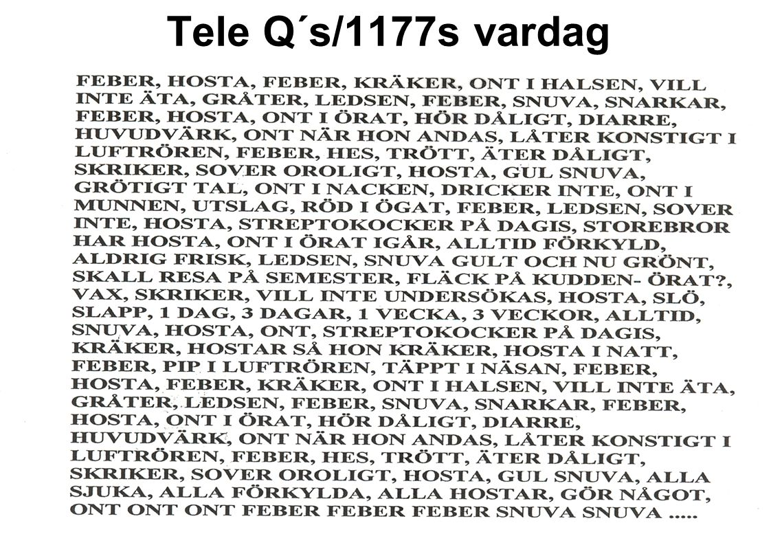 Tele Q´s/1177s vardag