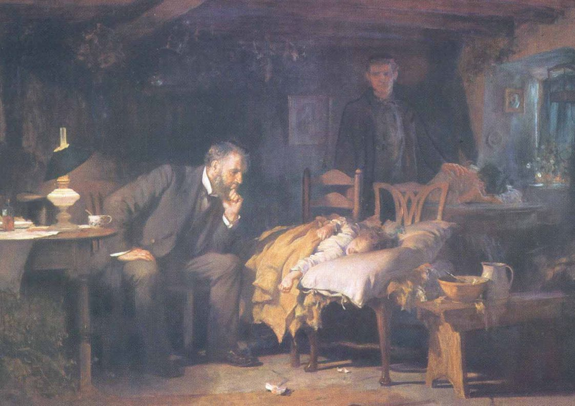 ´The doctor´ by sir Luke Fields 1891, Tate Gallery