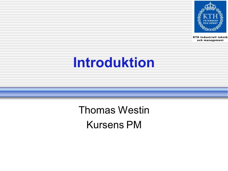 Thomas Westin Kursens PM