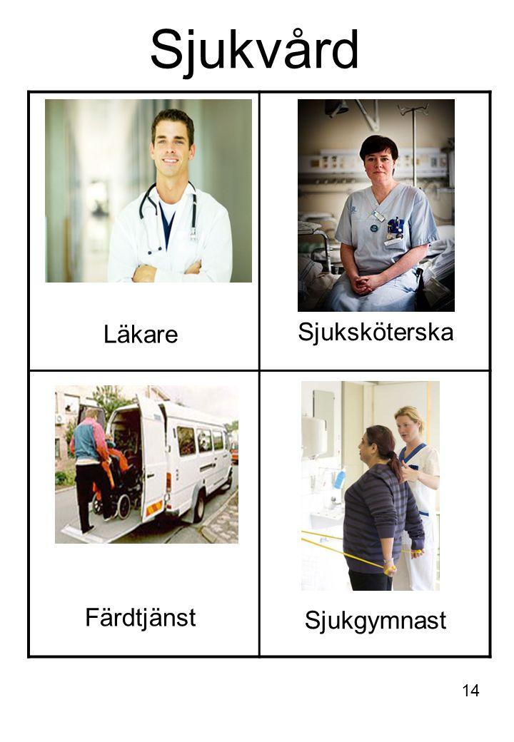 Sjukvård Läkare Sjuksköterska Färdtjänst Sjukgymnast