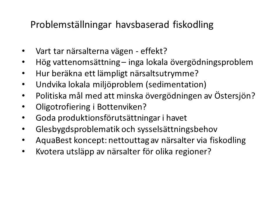 Problemställningar havsbaserad fiskodling