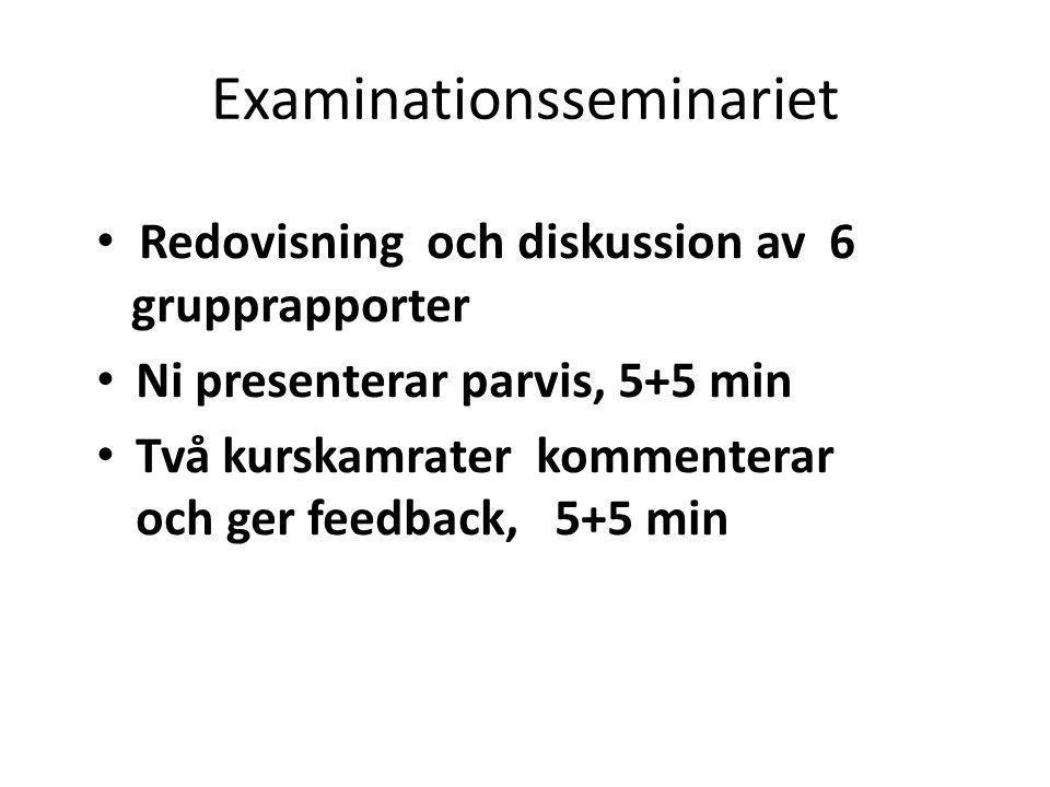 Examinationsseminariet