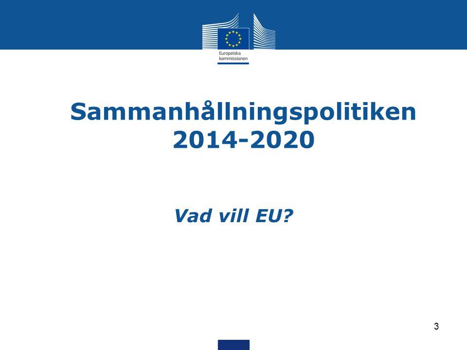 Sammanhållningspolitiken 2014-2020