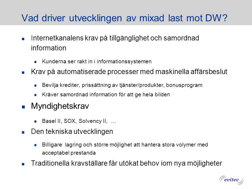 Vad driver utvecklingen av mixad last mot DW