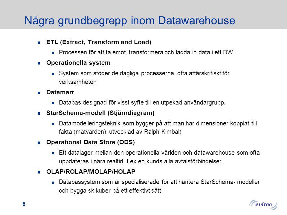 Några grundbegrepp inom Datawarehouse