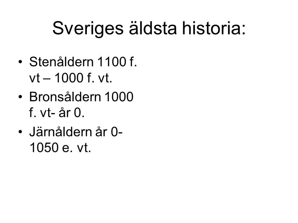 Sveriges äldsta historia: