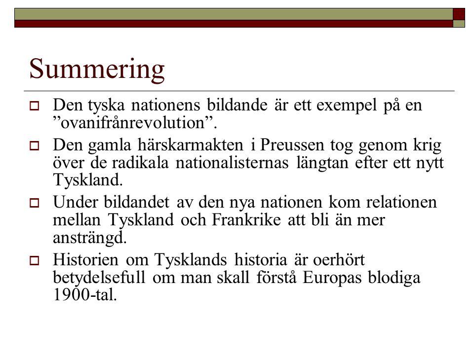Summering Den tyska nationens bildande är ett exempel på en ovanifrånrevolution .