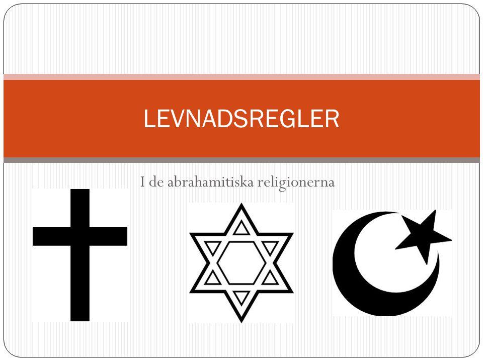 I de abrahamitiska religionerna
