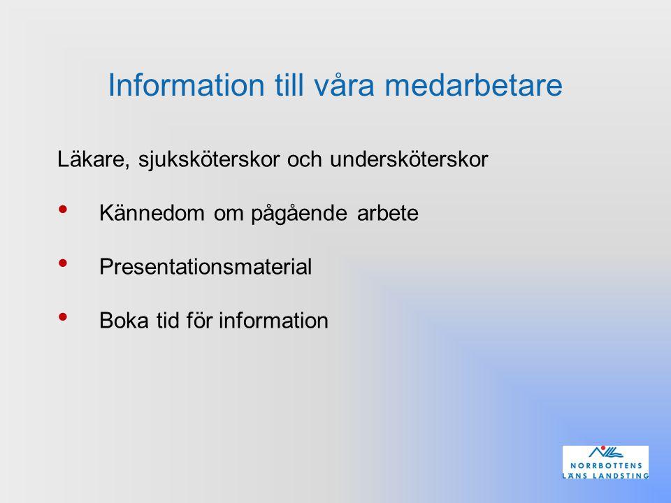 Information till våra medarbetare