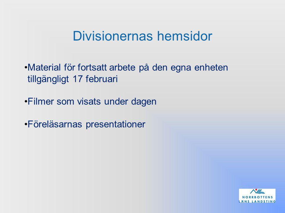 Divisionernas hemsidor