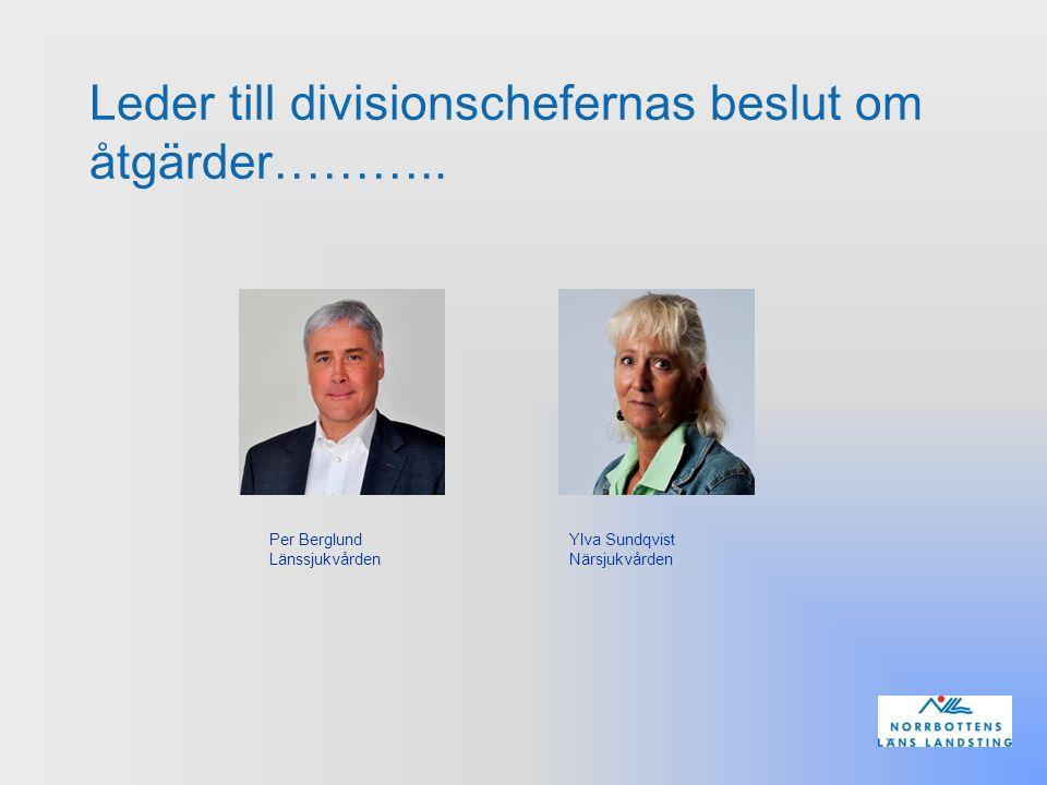 Leder till divisionschefernas beslut om åtgärder………..