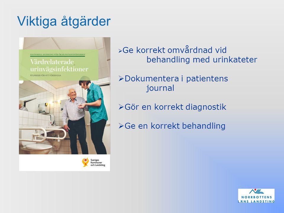 Viktiga åtgärder Dokumentera i patientens journal
