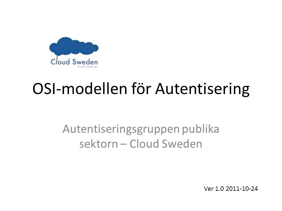 OSI-modellen för Autentisering