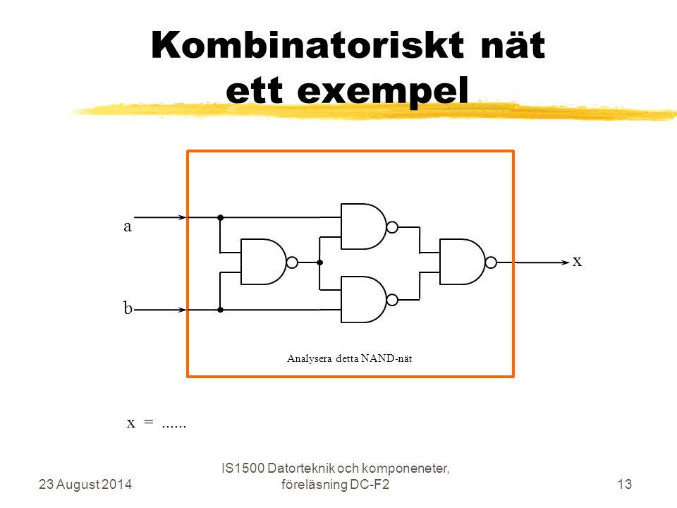 Kombinatoriskt nät ett exempel