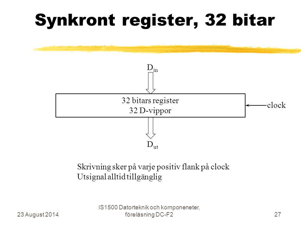 Synkront register, 32 bitar