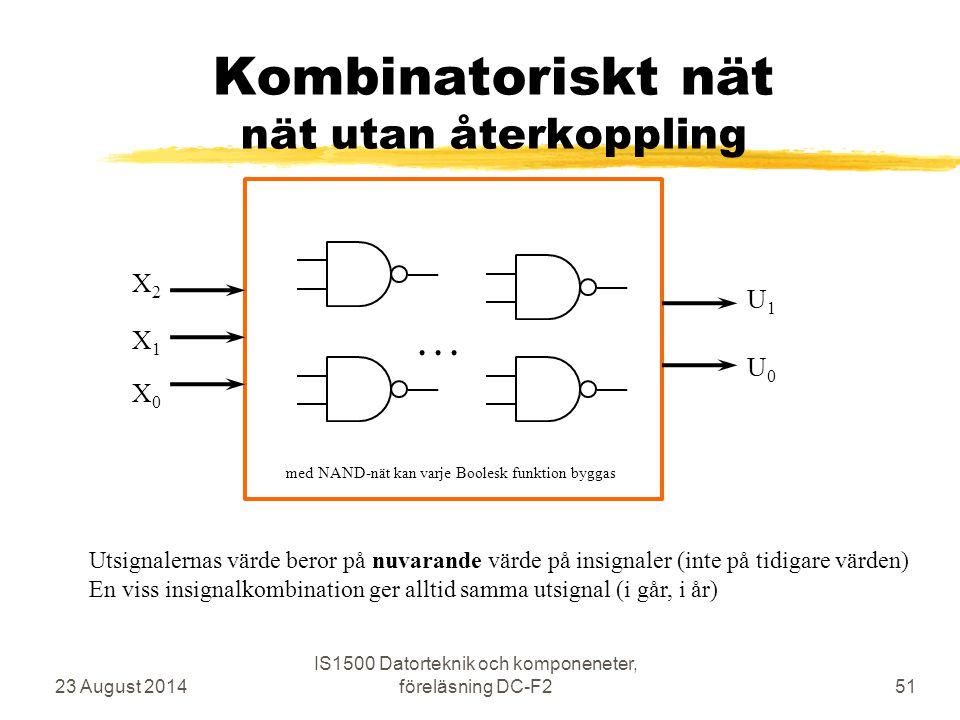 Kombinatoriskt nät nät utan återkoppling