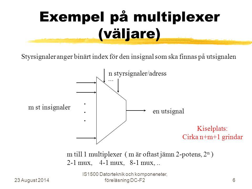 Exempel på multiplexer (väljare)