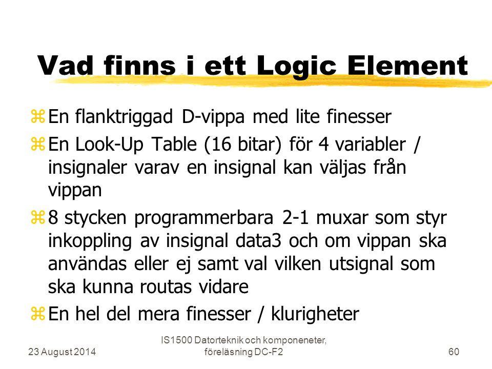 Vad finns i ett Logic Element
