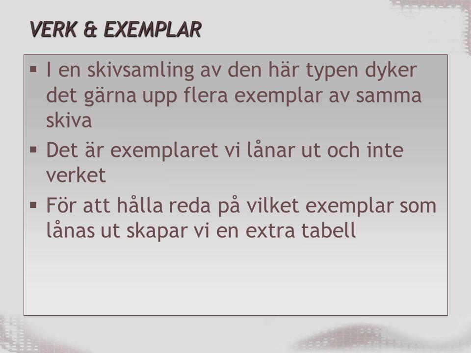 VERK & EXEMPLAR I en skivsamling av den här typen dyker det gärna upp flera exemplar av samma skiva.