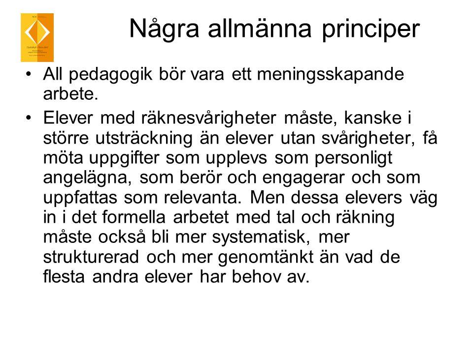 Några allmänna principer