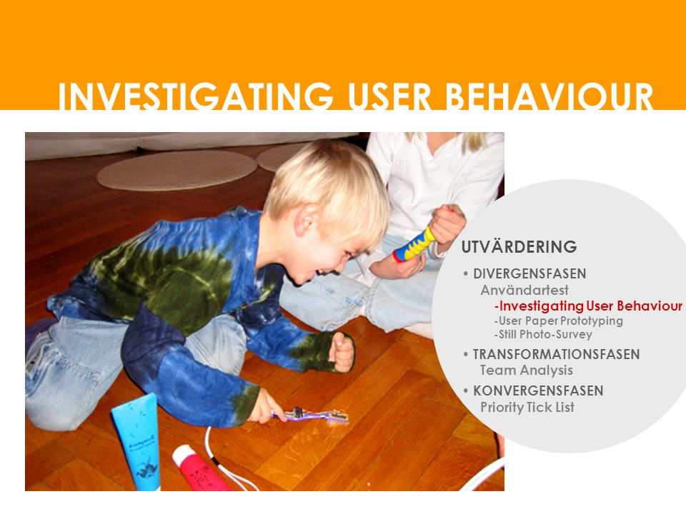 INVESTIGATING USER BEHAVIOUR